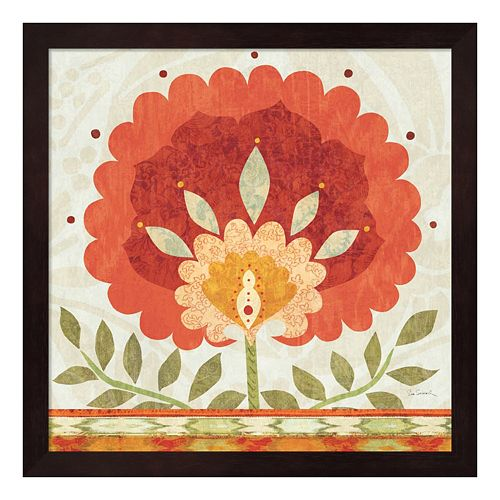 Metaverse Art Ikat Bloom II Framed Wall Art