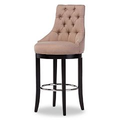 Baxton Studio Harmony  Button Tufted Bar Stool