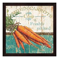 Metaverse Art Garden Carrots Framed Wall Art