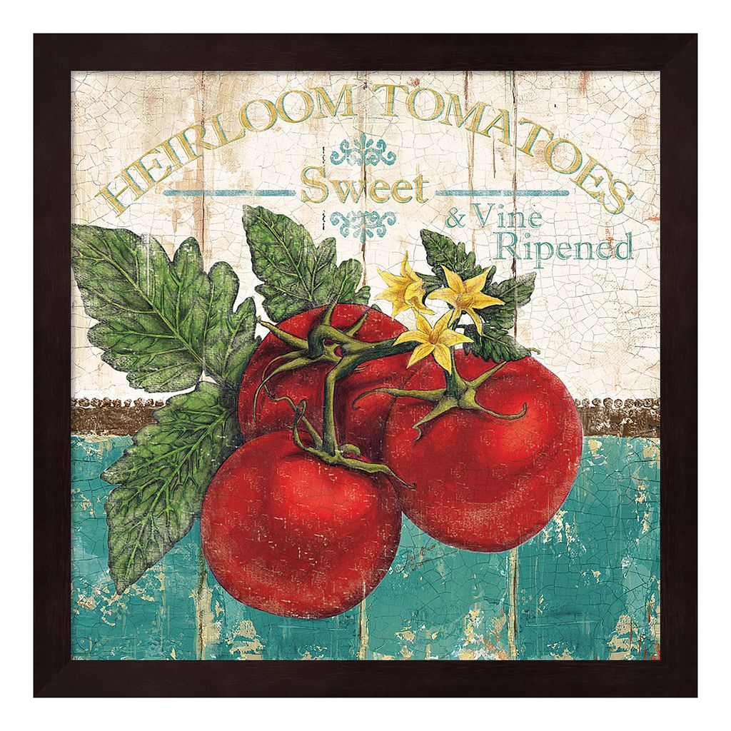 Metaverse Art Heirloom Tomatoes Framed Wall Art