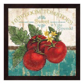 Metaverse Art Heirloom Tomatoes Framed Wall Art