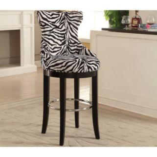 Baxton Studio Peace  Zebra Print Bar Stool