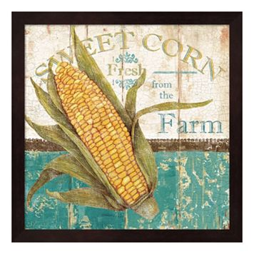 Metaverse Art Sweet Corn Framed Wall Art