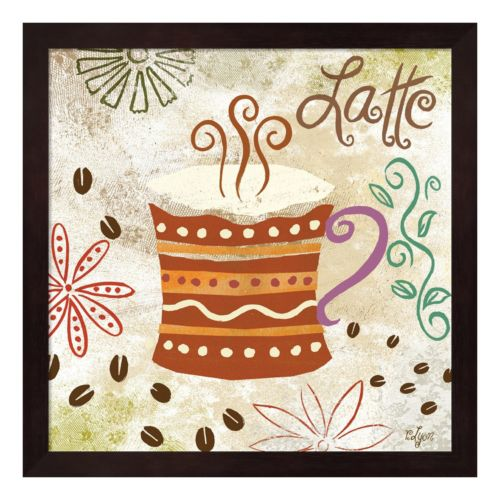 Metaverse Art Colorful Coffee IV Framed Wall Art
