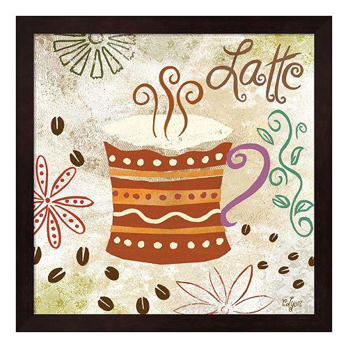 Metaverse Art Colorful Coffee IV Framed Wall Art