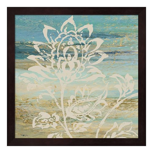 Metaverse Art Blue Indigo Lace I Framed Wall Art