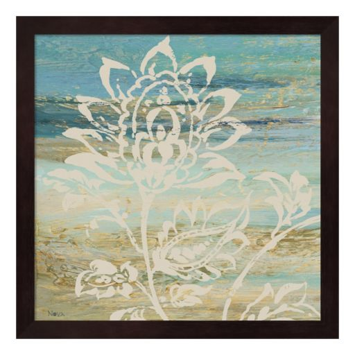 Metaverse Art Blue Indigo Lace I Framed Wall Art