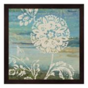 Metaverse Art Blue Indigo Lace II Framed Wall Art