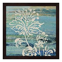 Metaverse Art Blue Indigo Lace III Framed Wall Art