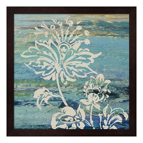 Metaverse Art Blue Indigo Lace III Framed Wall Art