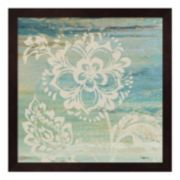 Metaverse Art Blue Indigo Lace IV Framed Wall Art