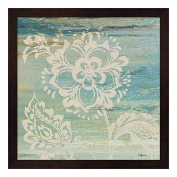 Metaverse Art Blue Indigo Lace IV Framed Wall Art