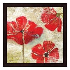 Metaverse Art Poppy Passion I Framed Wall Art