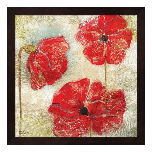 Metaverse Art Poppy Passion II Framed Wall Art