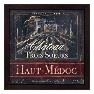 Metaverse Art Grand Vin Wine Label I Framed Wall Art
