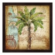 Metaverse Art Antique Nautical Palms I Framed Wall Art