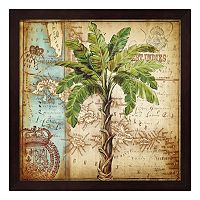 Metaverse Art Antique Nautical Palms I Framed Wall Art