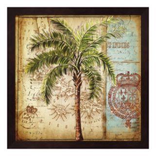 Metaverse Art Antique Nautical Palms II Framed Wall Art