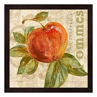 Metaverse Art Rustic Fruit I Framed Wall Art
