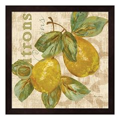 Metaverse Art Rustic Fruit III Framed Wall Art