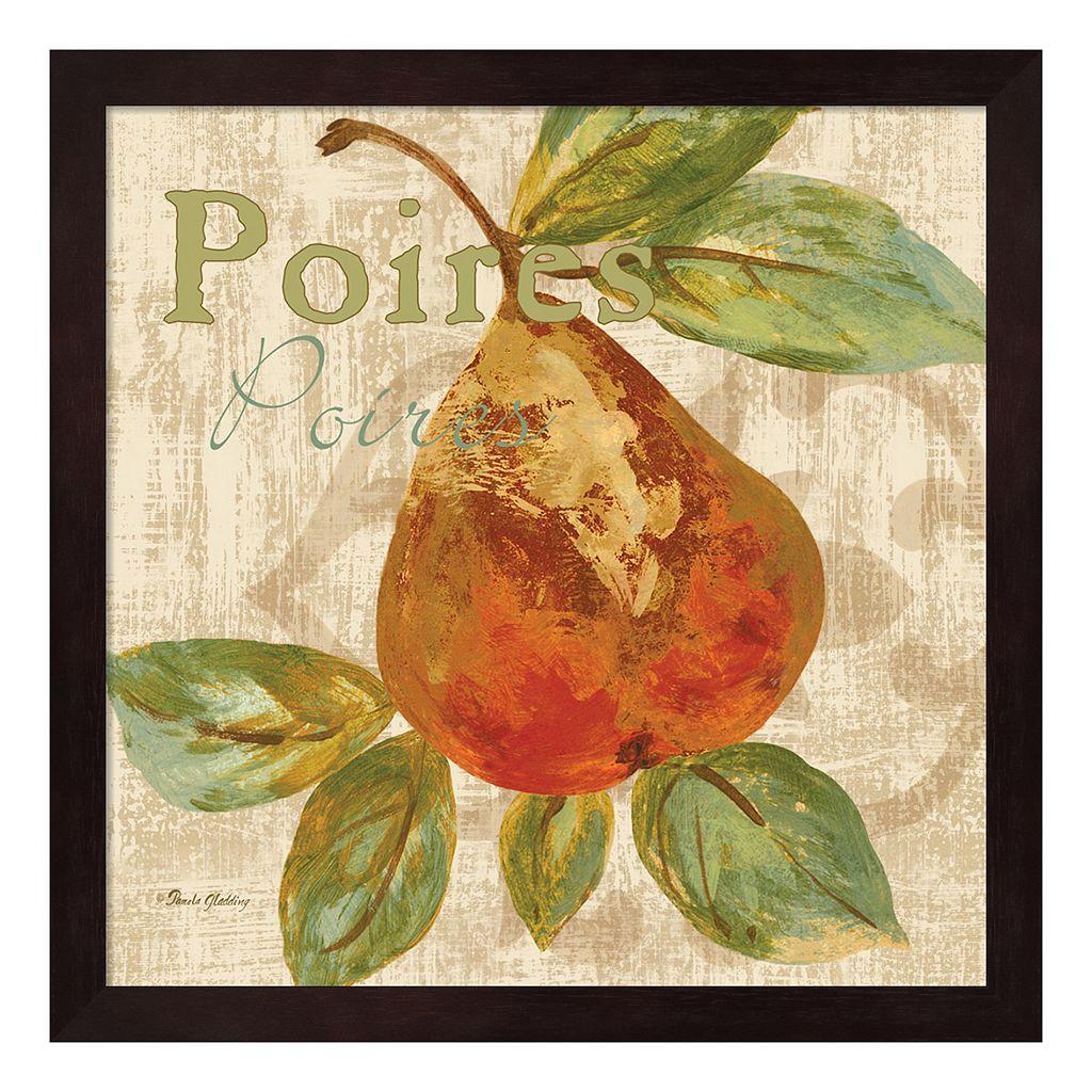 Metaverse Art Rustic Fruit IV Framed Wall Art