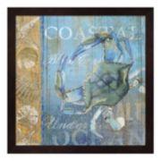 Metaverse Art Crab & Sea Framed Wall Art
