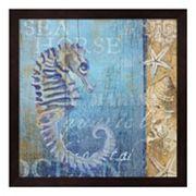 Metaverse Art Sea Horse & Sea Framed Wall Art
