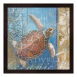 Metaverse Art Turtle & Sea Framed Wall Art