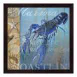 Metaverse Art Lobster & Sea Framed Wall Art