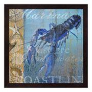 Metaverse Art Lobster & Sea Framed Wall Art