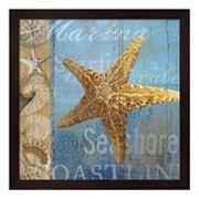 Metaverse Art Starfish & Sea Framed Wall Art