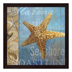 Metaverse Art Starfish & Sea Framed Wall Art