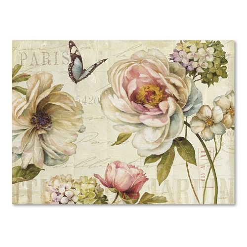 Trademark Fine Art Marche de Fleurs IV Canvas Wall Art