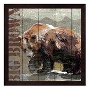 Metaverse Art Open Season Bear Framed Wall Art
