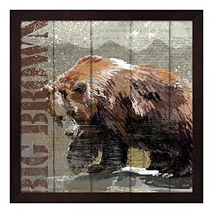 Metaverse Art Open Season Bear Framed Wall Art