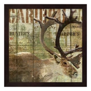 Metaverse Art Open Season Caribou Framed Wall Art