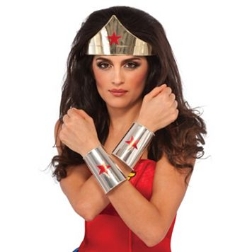 Adult DC Comics Wonder Woman Costume Tiara & Bracelets