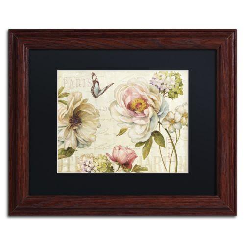 Trademark Fine Art Marche de Fleurs IV Wood Finish Framed Wall Art