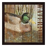 Metaverse Art Open Season Mallard Framed Wall Art