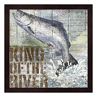 Metaverse Art Open Season King Salmon Framed Wall Art