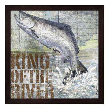 Metaverse Art Open Season King Salmon Framed Wall Art