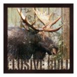 Metaverse Art Open Season Moose Framed Wall Art