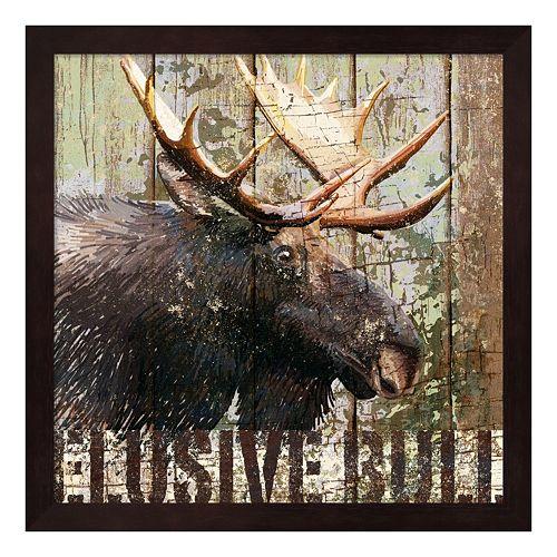 Metaverse Art Open Season Moose Framed Wall Art