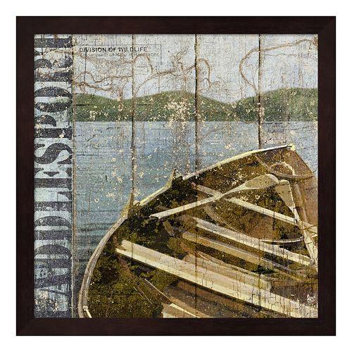 Metaverse Art Open Season Row Boat Framed Wall Art
