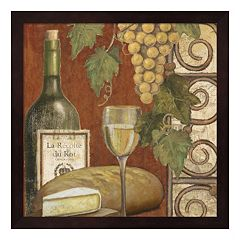 Metaverse Art Wine & Cheese Tasting 1 Framed Wall Art