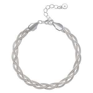 LC Lauren Conrad Braided Herringbone Chain Bracelet
