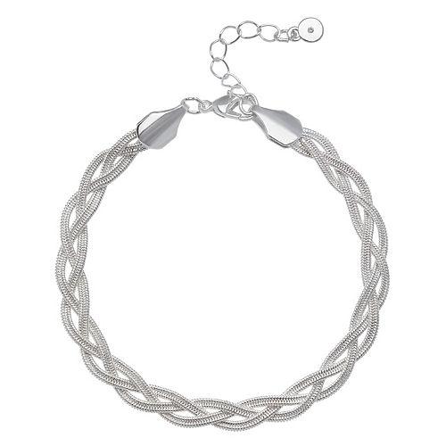 LC Lauren Conrad Braided Herringbone Chain Bracelet