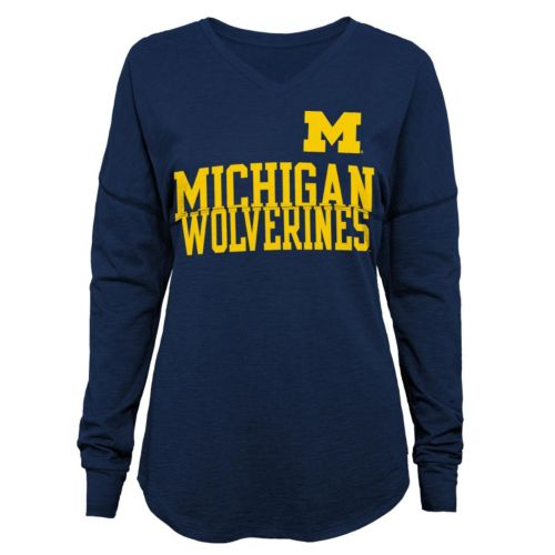 Juniors' Michigan Wolverines Split Tee