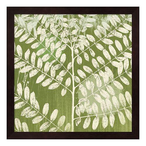 Metaverse Art Jade Foliage Framed Wall Art