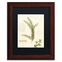 Trademark Fine Art Aromantique II Wood Finish Framed Wall Art